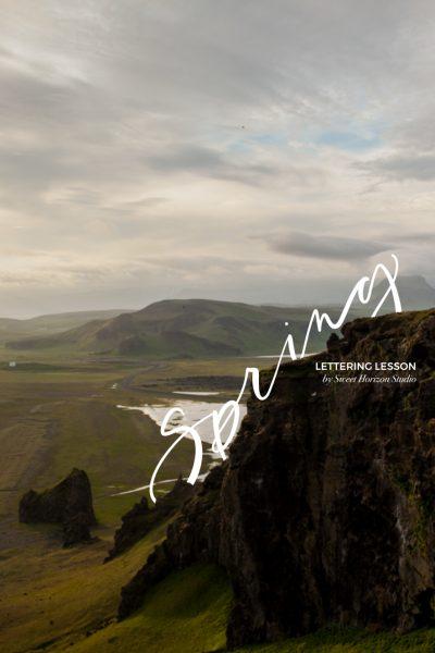 Lettering Lesson - Spring