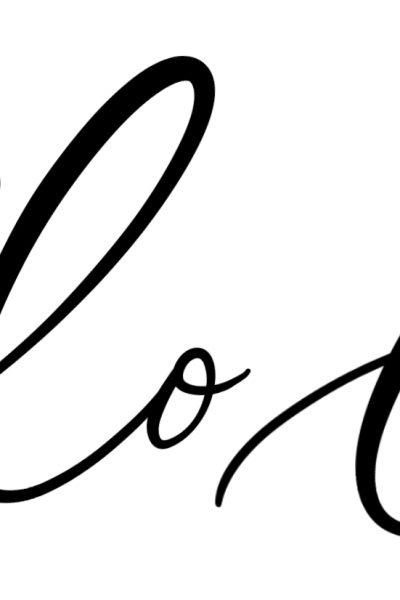 Lettering Lesson Breakdown – Hello Love