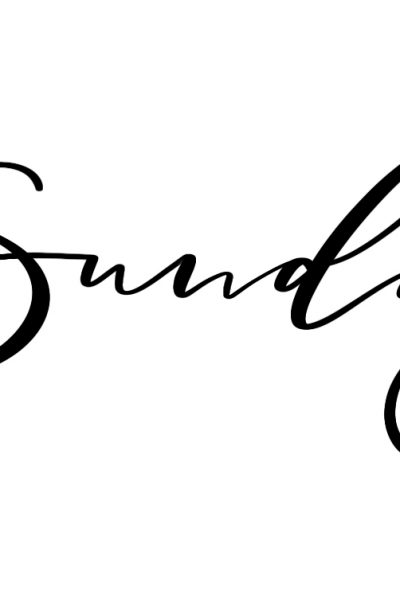 Lettering Lesson Breakdown – Sunday