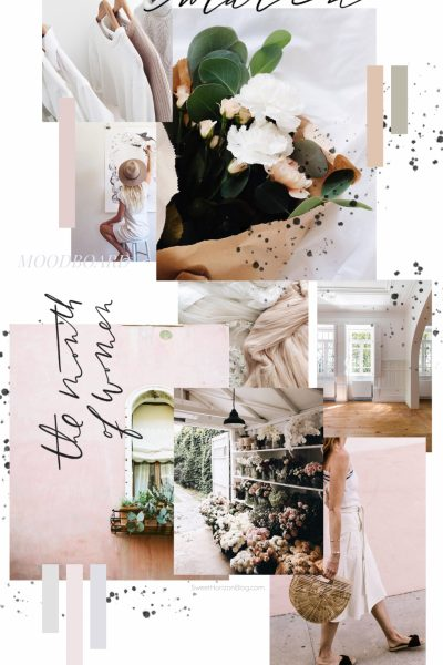 March Moodboard - Blush Tones
