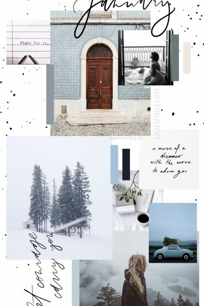 January Free Background + Yearly Goals