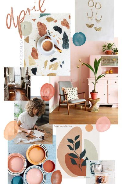 April Moodboard + Monthly Goals