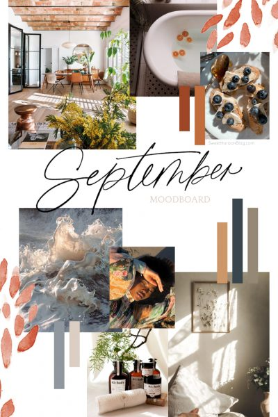 September Moodboard + Monthly Goals