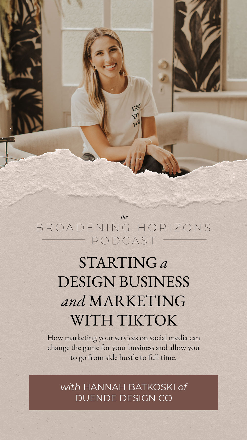Starting a Design Business and Marketing with TikTok with Duende Design Co from www.sweethorizonblog.com