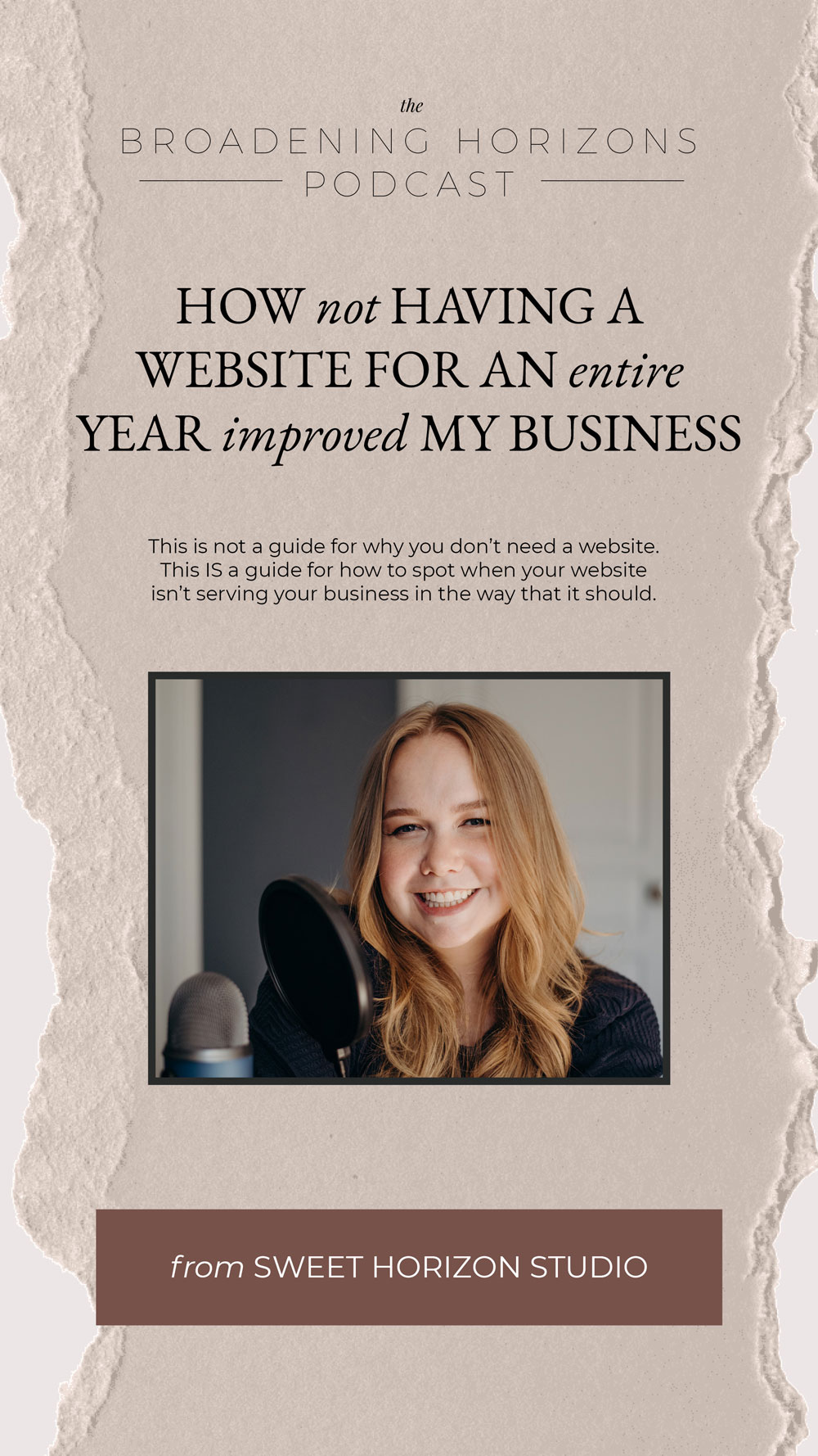 How NOT having a website for an entire year improved my business from www.sweethorizonblog.com