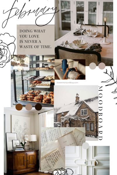 February Moodboard + Monthly Goals