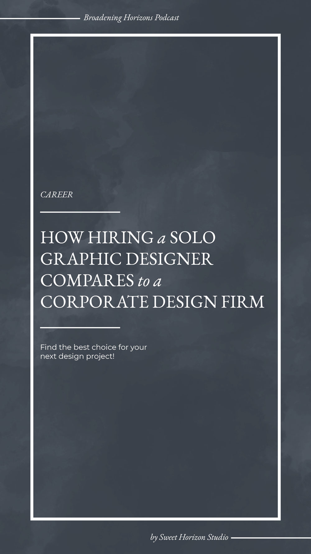 How hiring a solo graphic designer compares to a corporate design firm from www.sweethorizonblog.com