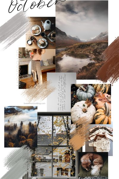 October Monthly Goals + Free Background